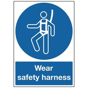 420x297mm Wear Safety Harness - Self Adhesive