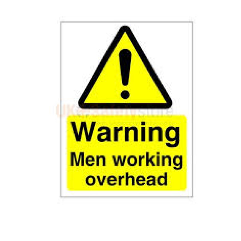 420x297mm Caution Operative Working Overhead - Rigid Sign
