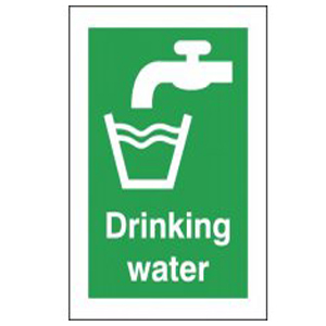 210x148mm Self Adhesive Drinking Water Sign