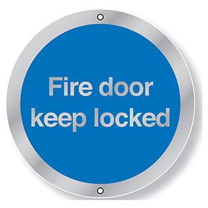 76mm Dia Fire Door Keep Locked