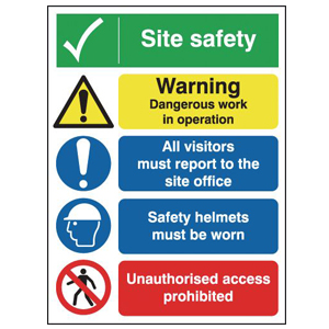 400x300 Site Safety Warning Dangerous Outdoor Sign