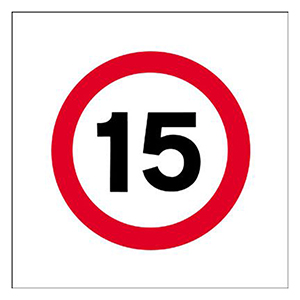 450x450mm 15mph traffic sign