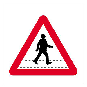 450x450mm Pedestrian crossing traffic sign