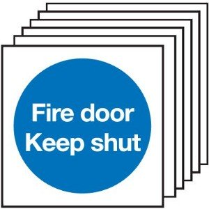 100x100mm Fire Door Keep Shut - Rigid Pk of 6
