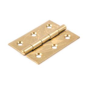38mm Type 1838 Steel Butt Hinges - Electro Brass