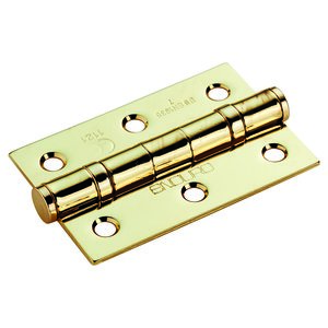 75x50x2mm Polished Brass Ball Bearing Butt Hinges - Grade 7 (Boxed in Pairs, Sold per hinge)