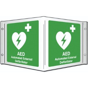 200x400mm AED Automate External Defibrillator Projecting 3D Sign