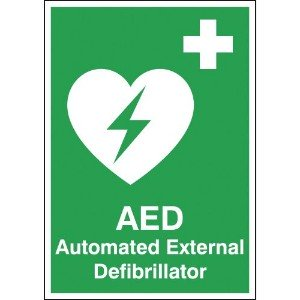 210x148mm Automated External Defibrillator - Self Adhesive