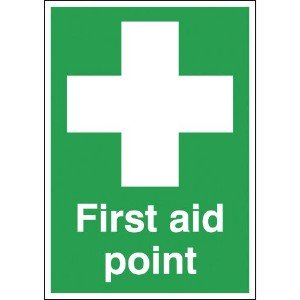 297x210mm First Aid Point - Self Adhesive
