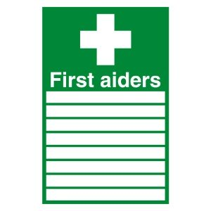 300x200mm First Aiders (with spaces) - Rigid