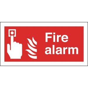 100x200mm Fire Alarm - Self Adhesive