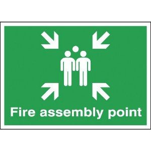 250x350mm Fire Assembly Point - Rigid