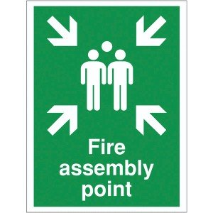 300x250mm Fire assemble point Reflective sign