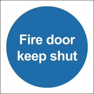 100x100 Fire Door Keep Shut - Rigid