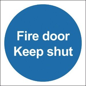 100x100 Fire Door Keep Shut - Self Adhesive