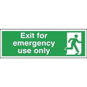 150x450mm Exit For Emergency Use Only - Rigid