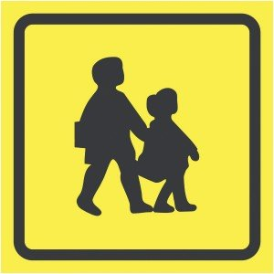 450x450mm School Bus Sign