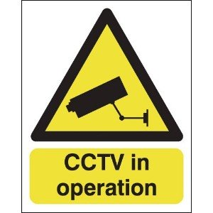 250x200mm CCTV In Operation - Aluminium