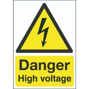 210x148mm Danger High Voltage - Self Adhesive