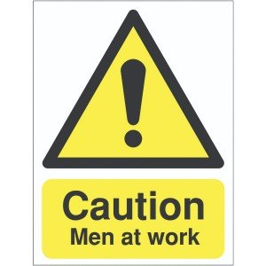 400x300 Caution Men at work Reflective sign