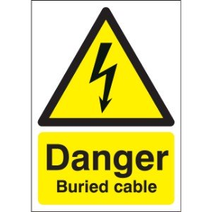 420x297mm Danger Buried Cable - Rigid