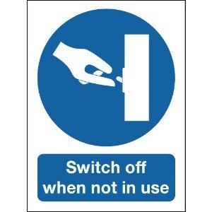 100x75mm Switch Off When Not In Use - Rigid