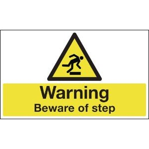 300 x 500mm Warning Beware of step Anti-Slip Floor Sign