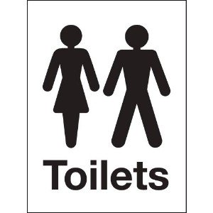 200x150mm Male and Female Washroom sign - rigid
