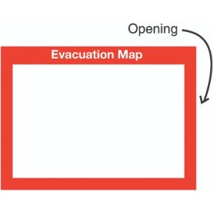 240x327mm Evacuation Map Insert Sign