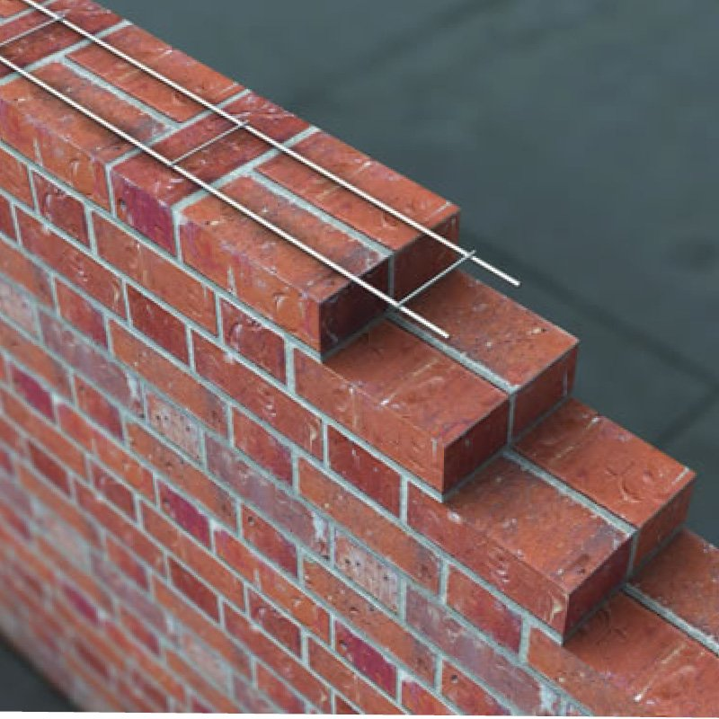 60x3mmx2.7mt Stainless Welded Ladder Brickwork Reinforcement