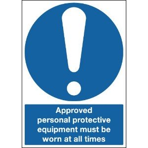 297x210mm Approved Personal Protective Equipment Must Be Worn At All Times - Self Adhesive