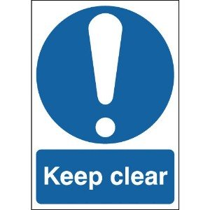 100x250mm Keep Clear - Rigid