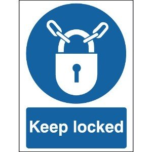 100x75mm Keep Locked - Rigid
