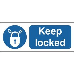 100x250mm Keep Locked - Rigid