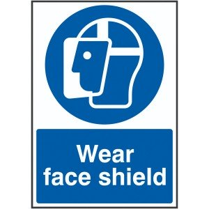 100x250mm Wear Face Shield - Rigid
