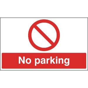 300x500mm No Parking - Reflective Sign
