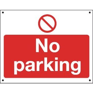 300x400mm No Parking Vandal resistant sign