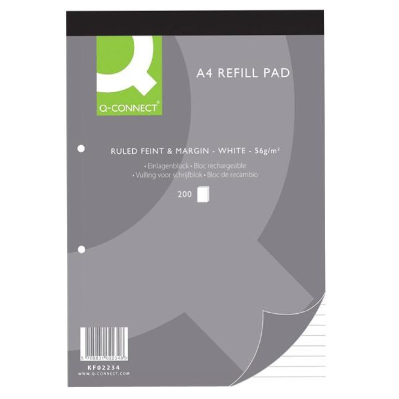 Fixfirm Refill Pad A4 Feint & Margin 80Lf Pack of 10