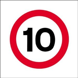 450x450mm 10mph traffic sign