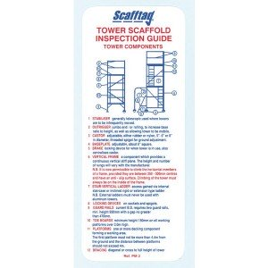 Scafftag Tower Inspection Pocket Guide Pack of 5