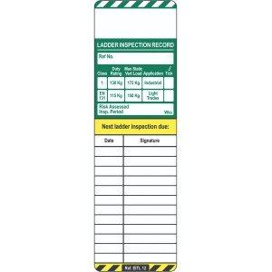 Scafftag Laddertag Inserts Pack of 10