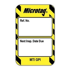 Scafftag Microtag Next Inspection Date Inserts Yellow Pack of 20
