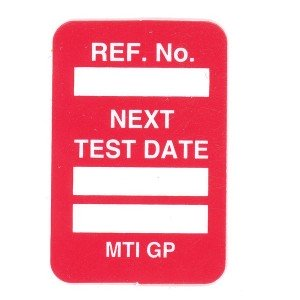 Scafftag Microtag Next Test Date Inserts Red Pack of 20