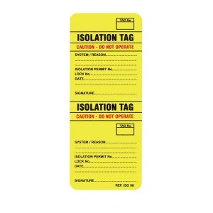Scafftag Isotag Isolation Tag Pack of 10
