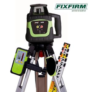 66R KIT Imex Self-leveling Rotating Laser Kit comprises Laser Level, Receiver, 5m Metric Staff & Flat Top Tripod