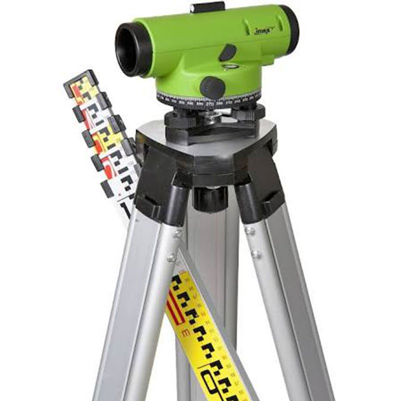 LAR28KIT 28x Magnification IMEX Automatic Optical Level Kit c/w V679-877 5m 'E' staff + Tripod