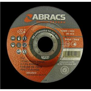115x0.75x22mm Axxion Ultra Thin Depressed Centre Cutting Discs