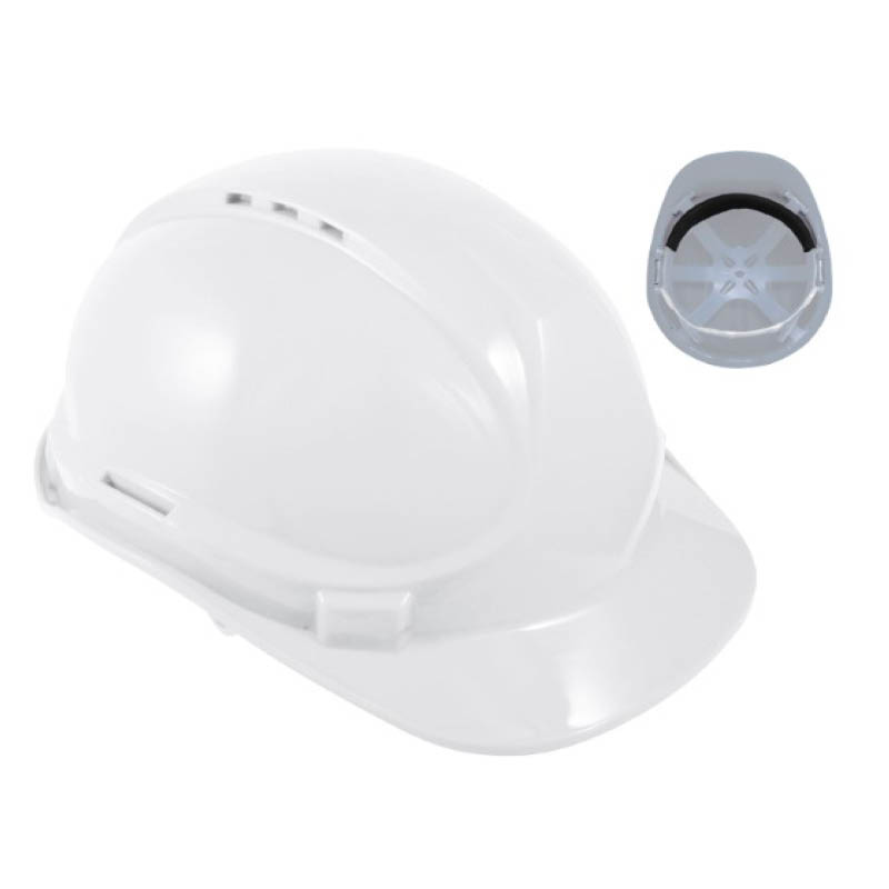 White Standard Contract Safety Helmet