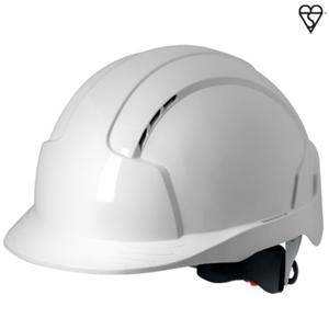 White EVOLite Mid Peak Vented Wheel Adjustable Helmet