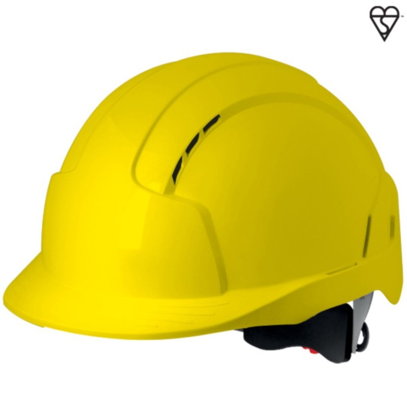 Yellow EVOLite Mid Peak Vented Wheel Adjustable Helmet